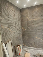 Реконструкция ванной комнаты с витражным окном. Размер = 4,3 х 3,8 х 3,3 м. Адрес: г. Иссык. 15