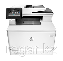 МФУ HP Color LaserJet Pro MFP M477fdn (A4) Printer/Scanner/Copier/Fax/ADF 27 ppm 600 dpi 1.2 GHz, Duplex, 256 Mb, tray 50 + 250 pages, USB+Ethernet,