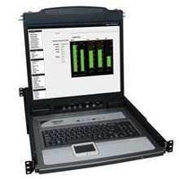 NetDirector 16-Port 1U Rack-Mount Console KVM Switch with 19-in. LCD + 8 PS2/USB Combo Cables