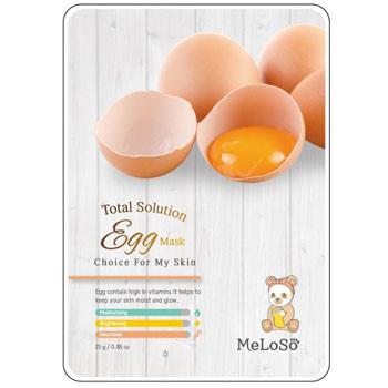Meloso Total Solution Egg Mask Маска тканевая для лица с экстрактом Яичного Желтка