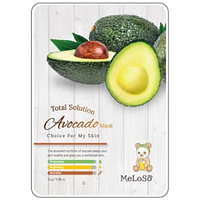 Meloso Total Solution Avocado Mask Маска тканевая для лица с авокадо