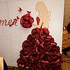 Пресс-стена из бумажных цветов на ҚЫЗ ҰЗАТУ, 3D