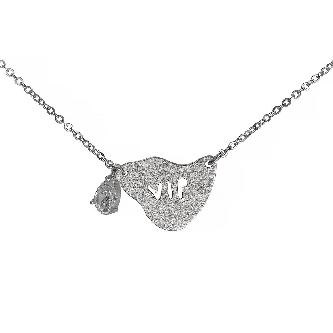 Серебряное колье VIP  Brosh Jewellery (Серебро 925) (серебряный)