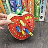 Деревянная игрушка - Фрукты с червяками (на магнитах), фото 4
