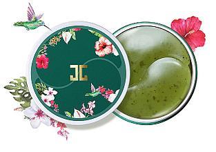 Гидрогелевые патчи с лепестками зелёного чаяJayjun Green Tea Eye Gel Patch