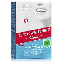 Global White Отбеливающие полоски для зубов - Видимый результат за 7 дней, фото 1