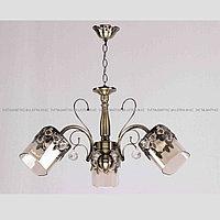 Классическая люстра на 3 лампы Бронзовая