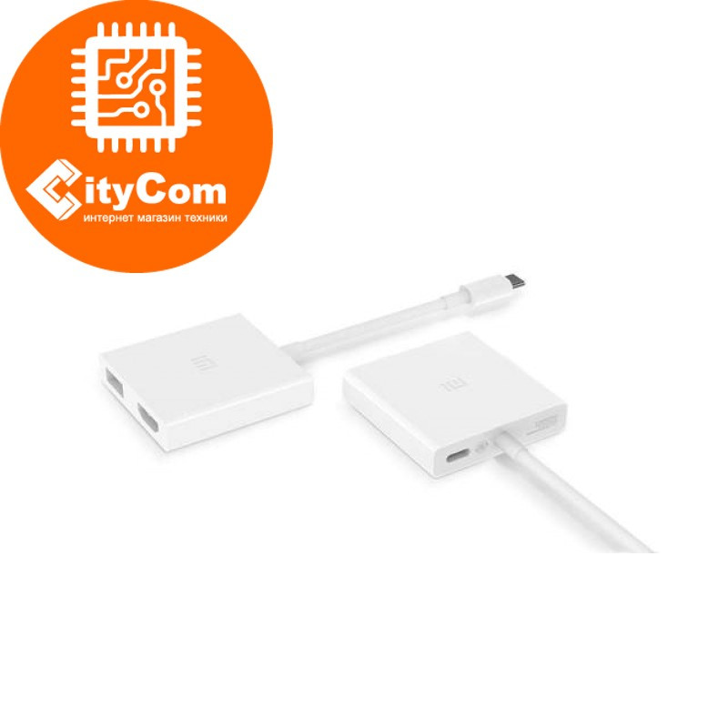 Адаптер (переходник) USB Type-C (m) to HDMI (f) + USB 2.0, Xiaomi Mi. Конвертер. Оригинал.