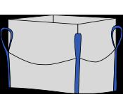 Биг-бэг 72,5х72,5х150, 4 стропы, плотность 160г/м2, с верхней сборкой