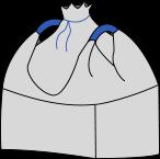 Биг-бэг 72,5х72,5х180, 2 стропы, плотность 200г/м2, с верхней сборкой