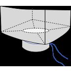 Биг-бэг 90х90х140, 1 стропа, плотность 140г/м2, с разгрузочным люком