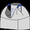 Биг-бэг 95х95х140, 2 стропы, плотность 140г/м2, с загрузочным люком