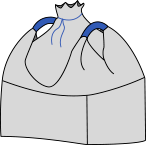 Биг-бэг 95х95х170, 2 стропы, плотность 180г/м2, с верхней сборкой