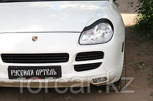 Накладки на передние фары (Реснички) Porsche Cayenne 2002-2010