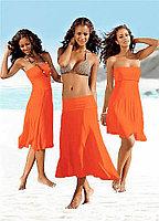 Ярко оранжевое платье трансформер