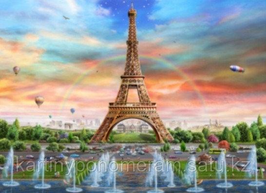"""Картина стразами на подрамнике (40х50 см) """"Фонтаны в Париже"""" MB-392"""