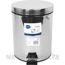 Бак для мусора педалью железный хром 3л