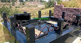 Облагораживание мусульманской могилы гранитной плиткой, фото 2