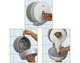 Диспенсер (Vialli) для туалетной бумаги Джамбо центральной вытяжки белый пластик, фото 4