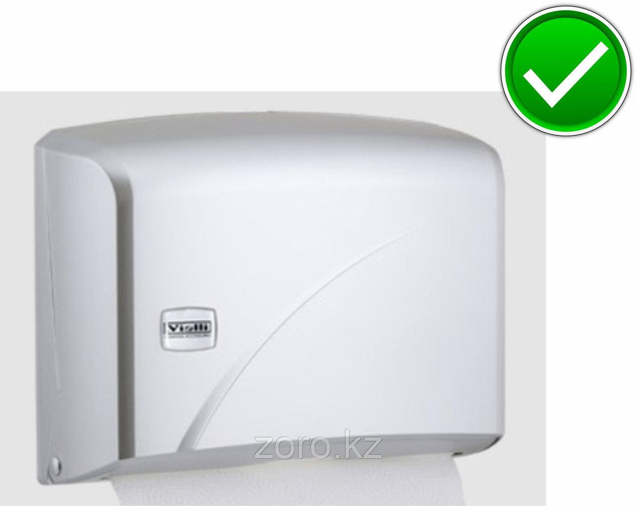 Диспенсер для бумажных полотенец Z укладка серый пластик Турция
