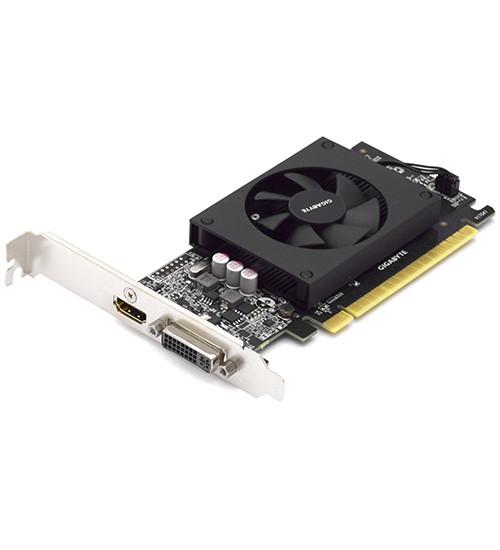 Видеокарта Gigabyte GT 710, 1 GB  SVGA PCI Express, DVI/HDMI, GDDR5/64bit, [GV-N710D5-1GL]