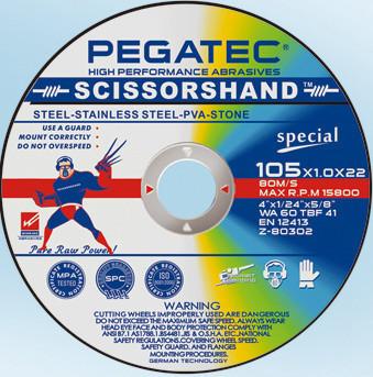 Диск Pegatec отрезной универсальный 125х1,6х22