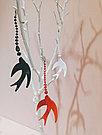 Серьги Brosh Jewellery  Ласточка ручной работы (акрил, черный), фото 3