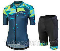 Женская короткая велоформа Nalini CHIC Women's Blue Cycling Jersey And Shorts Set