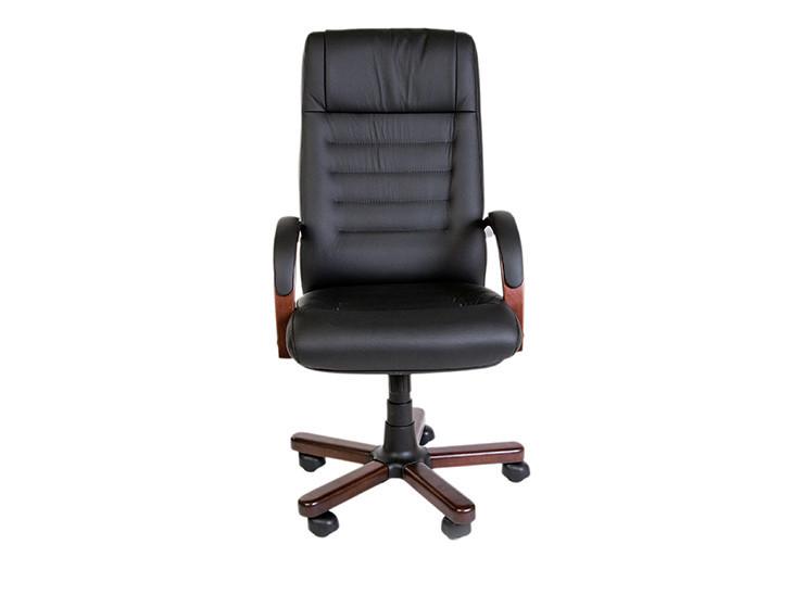 Кресло для руководителя кожа дерево
