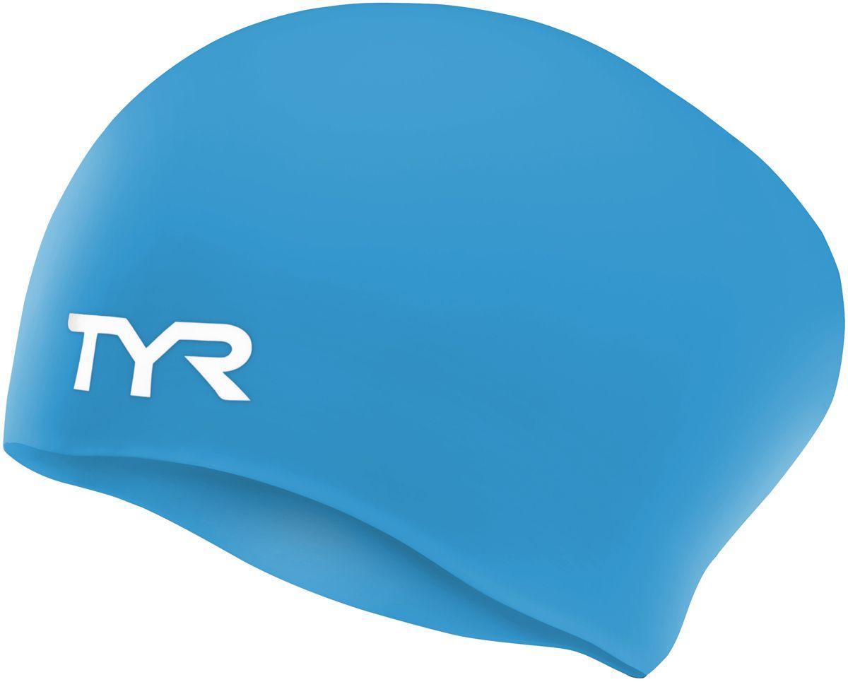 Шапочка для плавания (для длинных волос) TYR Long Hair Wrinkle Free Silicone Cap 420