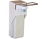 Медицинский локтевой дозатор (диспенсер) для антисептика и жидкого мыла 1000 мл, фото 4