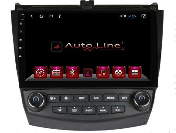Автомагнитола AutoLine Honda Accord 2003-2008 HD ЭКРАН 1024-600 ПРОЦЕССОР 4 ЯДРА (QUAD CORE)