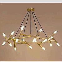 Дизайнерская люстра в золоте  на 20 ламп