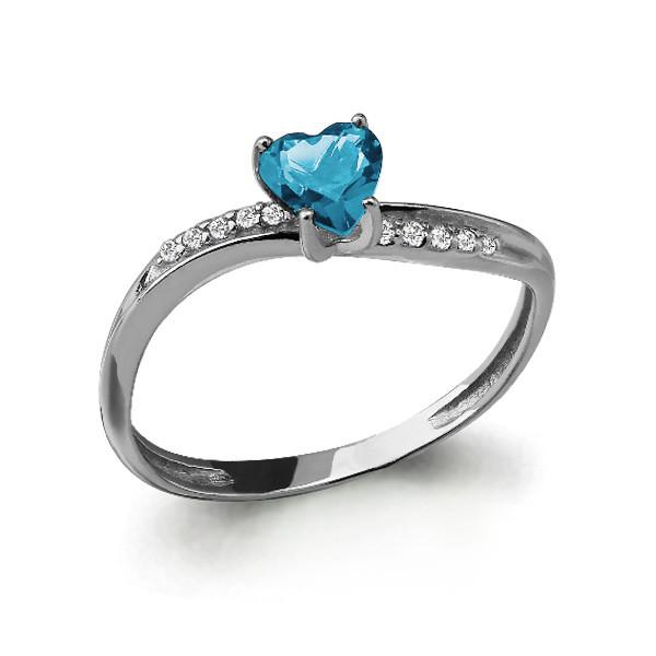 Серебряное кольцо с топазом и AQUAMARINE (#409943)