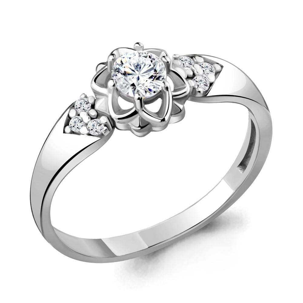 Серебряное кольцо с фианитом AQUAMARINE (#715223)