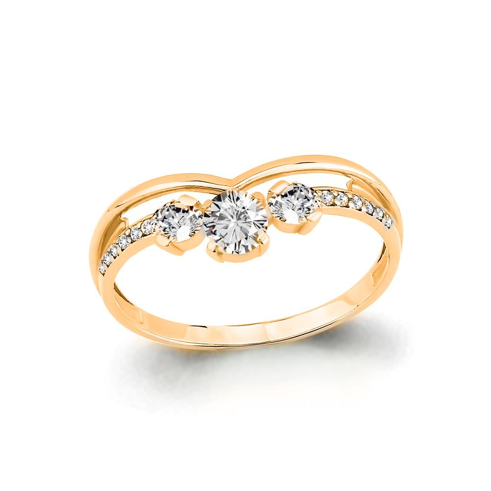 Серебряное кольцо с фианитом AQUAMARINE (#708756)