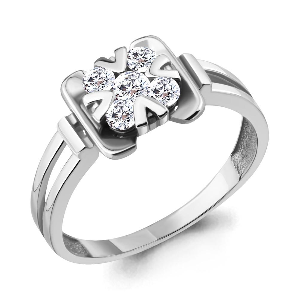 Серебряное кольцо с фианитом AQUAMARINE (#711856)