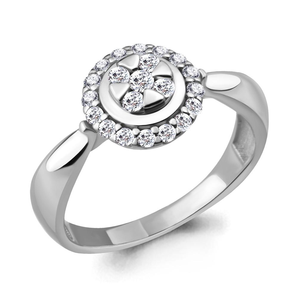 Серебряное кольцо с фианитом AQUAMARINE (#711685)