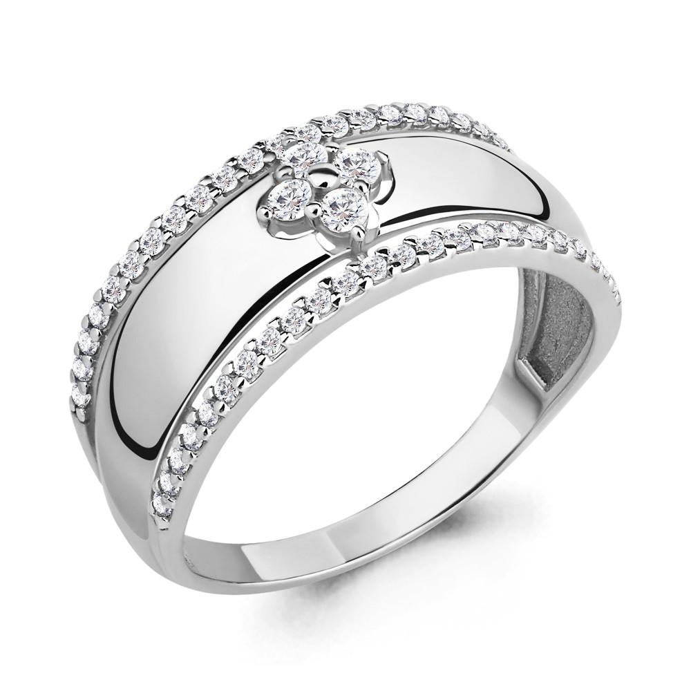 Серебряное кольцо с фианитом AQUAMARINE (#683170)