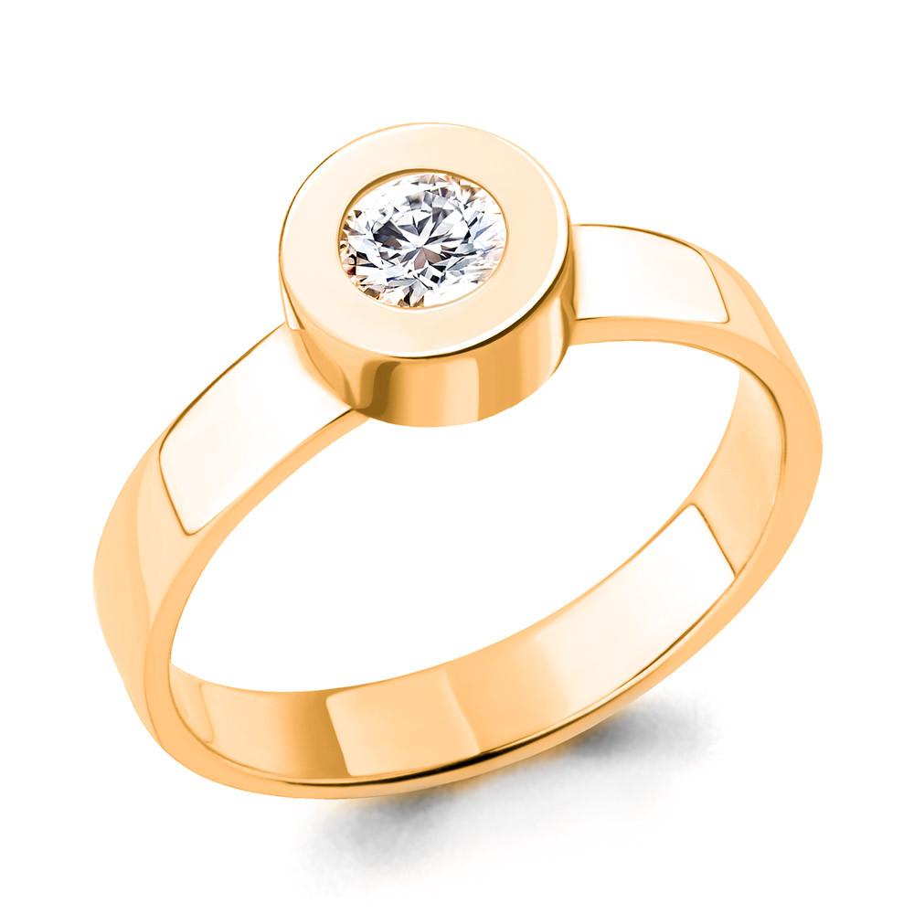 Серебряное кольцо с фианитом AQUAMARINE (#705219)