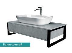 Столешница с раковиной GRUNGE LOFT 80 см. (1 ящик). Серый бетон.