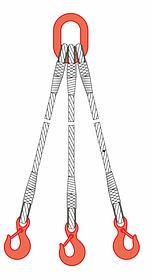Строп канатный 3СК 1,6т 1м