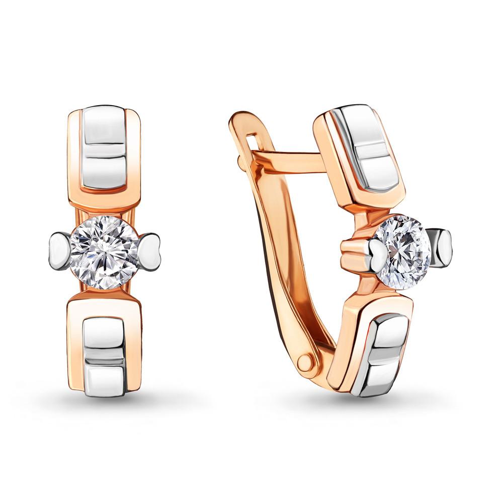 Серебряные серьги-классические с фианитом AQUAMARINE (#712317)