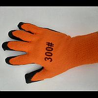 прозезиненые плотные перчатки оранжевые  300#  оригинал