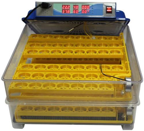 Крышка прибора полностью снимается, что упрощает загрузку яиц и обслуживание инкубатора