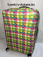 Чехол на большой пластиковый дорожный чемодан. Нейлон., фото 1