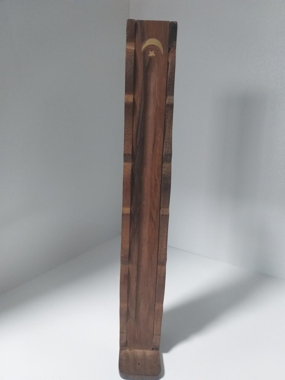 Подставка под благовония с отсеком для хранения палочек, деревянная