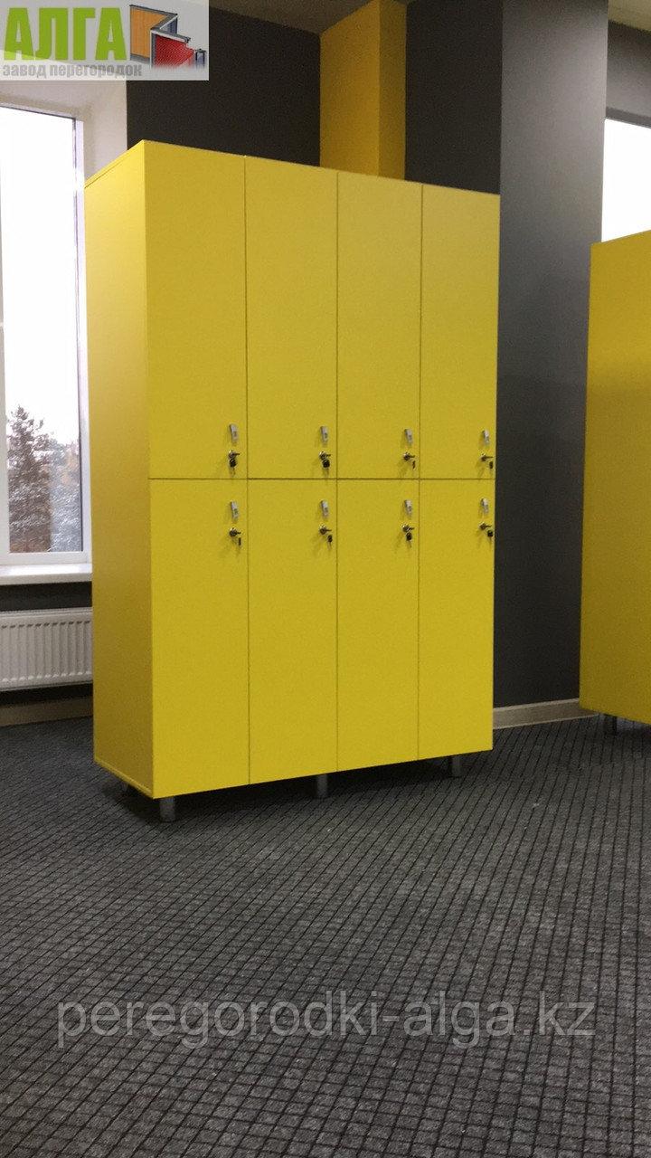 Шкафчики для одежды 4-секционные 8-местные