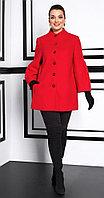 Пальто Lissana-3933, красный, 50