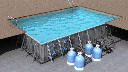 Бассейн переливной, 10*5*1.5м